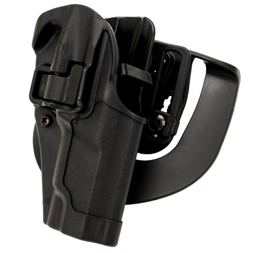 BlackHawk Serpa CQC, Belt & Paddle Holster, Plain Matte Black Finish Ruger P85/89, Right Hand