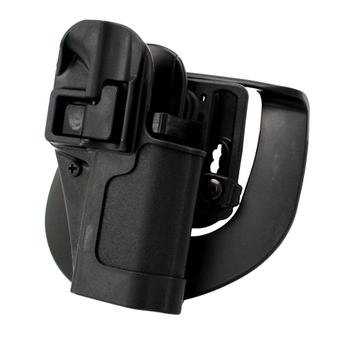 BlackHawk BlackHawk Products Group Serpa CF, Belt & Paddle Holster, Plain Matte Black Finish Ruger SR9, Right Hand 410541BK-R