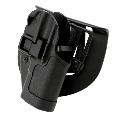 BlackHawk Serpa CQC, Belt & Paddle Holster, Plain Matte Black Finish Caracal F