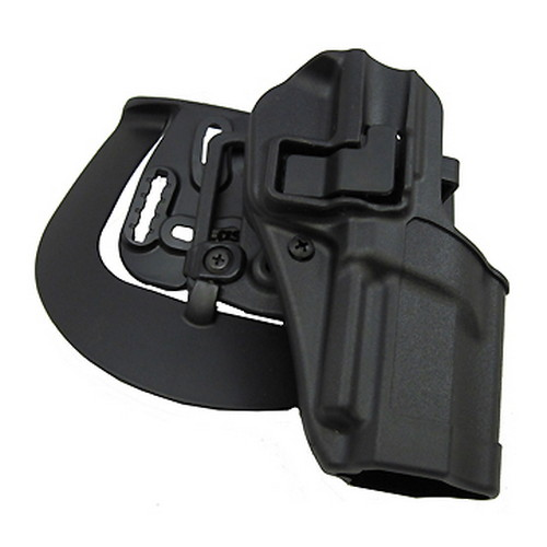BlackHawk Serpa CQC, Belt & Paddle Holster, Plain Matte Black Finish FN 5.7, Right Hand