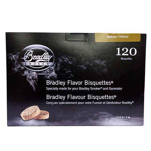 Bradley Technologies Smoker Bisquettes Hickory ( 120 Pack) BTHC120