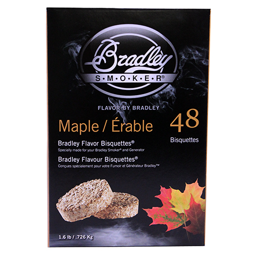 Bradley Technologies Smoker Bisquettes Maple (48 Pack)
