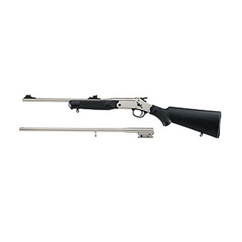 Rossi Rossi Matched Pair Two Barrel Rifle/Shotgun 410 Gauge / 22 Long Rifle, Nickel S411225BS