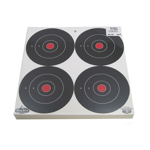 Birchwood Casey Birchwood Casey Dirty Bird Paper Targets 6 Bull's Eye Splattering 35570