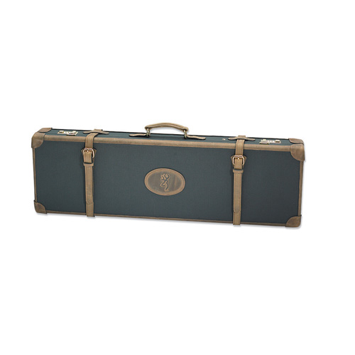 Browning Browning Canvas Leather Case Universal, Charcoal and Brown 1426129408