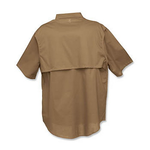Browning Badger Creek Short Sleeve Woven Shooting Shirt Brown, XX-Large 3010348805