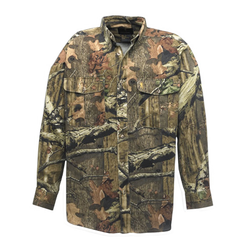 Browning Browning Wasatch Chamois Shirt, Mossy Oak Infinity Medium 3011342002