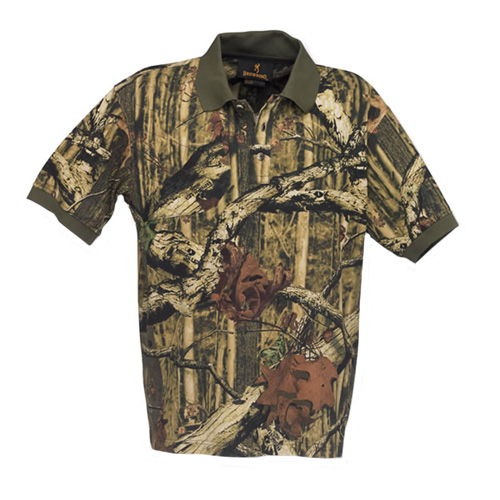 Browning Browning Shirt, Polo Dove w/Patch, Mossy Oak Infinity Camo Medium 3011582002