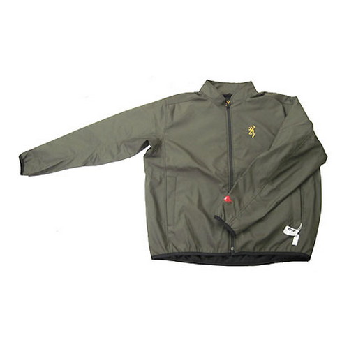 Browning Browning Softshell Add Heat Jacket Olive, Large 3048804203