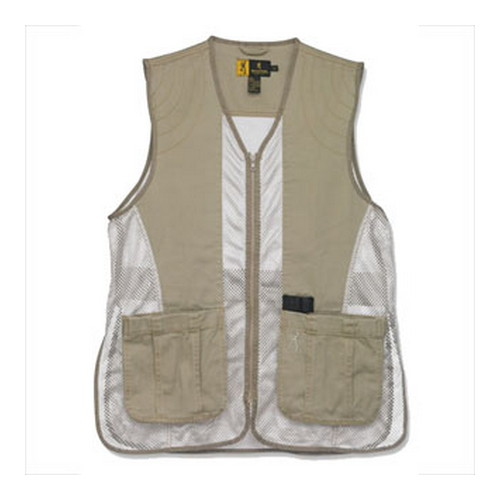 Browning Browning Dusty Mesh Vest Clay/Tan Medium 3050236802