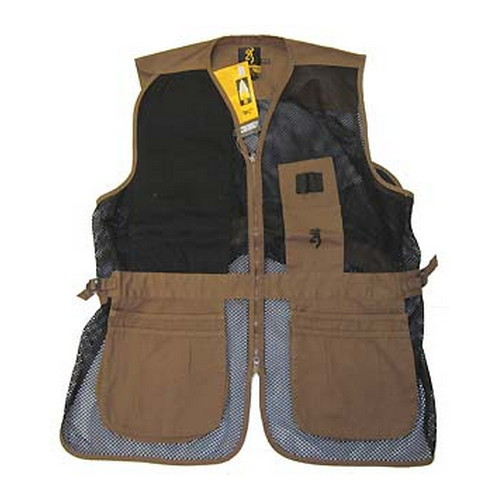Browning Browning Trapper Creek Vest Clay/Black, Large 3050266803