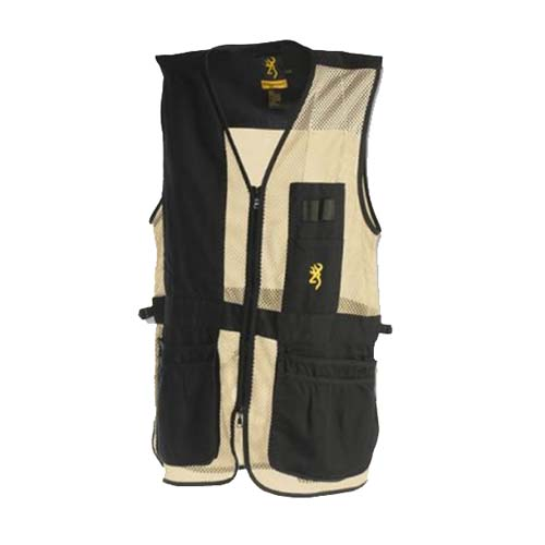 Browning Browning Deluxe Vest, Left Hand, Black/Tan Medium 3050279902
