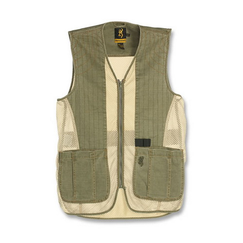 Browning Rhett Mesh Vest Olive/Tan Medium
