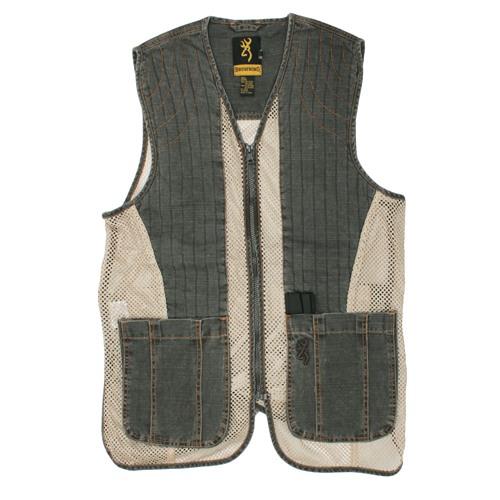 Browning Browning Rhett Mesh Vest Charcoal/Tan Large 3050297903