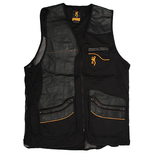 Browning Browning Master-Lite Shooting Vest, Black Medium 3050309902
