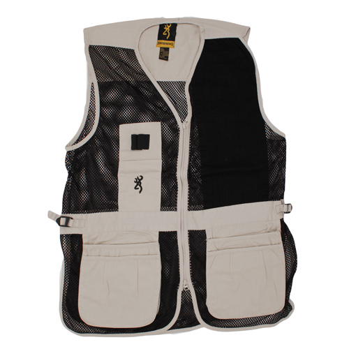 Browning Trapper Creek Left Hand Vest, Sand/Black Medium