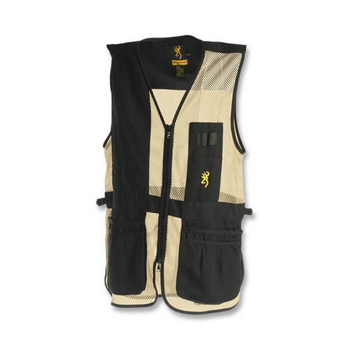 Browning Browning Trapper Creek Left Hand Vest, Black/Tan Medium 3050368902