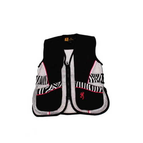 Browning Browning Lady Sahara Black/Zebra Vest Youth, Medium 3050543902