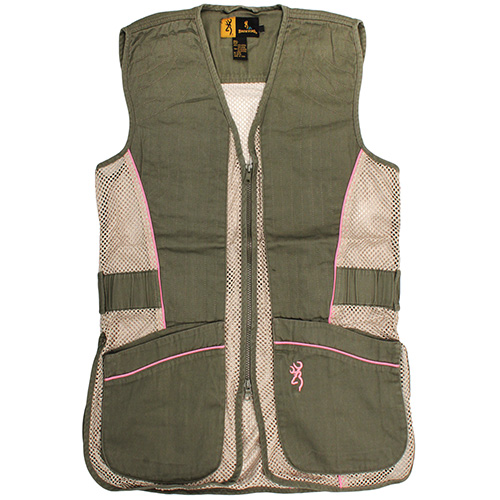 Browning Youth Mesh Vest Sage/Pink XX-Large