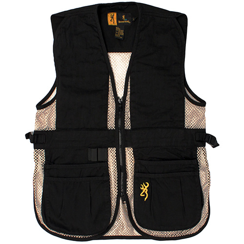 Browning Browning Jr Trapper Creek Vest, Black/Tan Large 3050548903