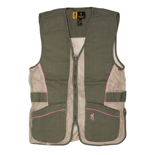 Browning Lady Mesh Vest, Sage/Pink Medium
