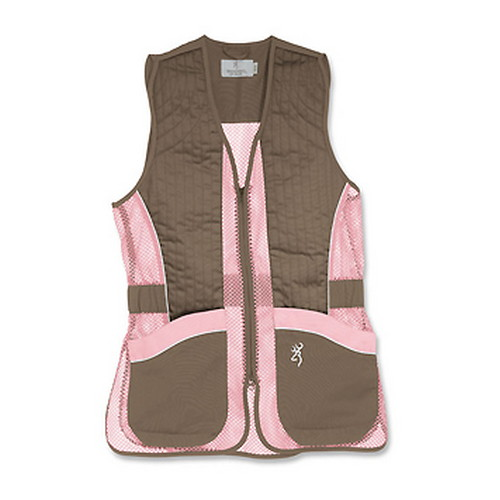 Browning Browning Lady Mesh Vest, Brown/Pink Large 3050678803