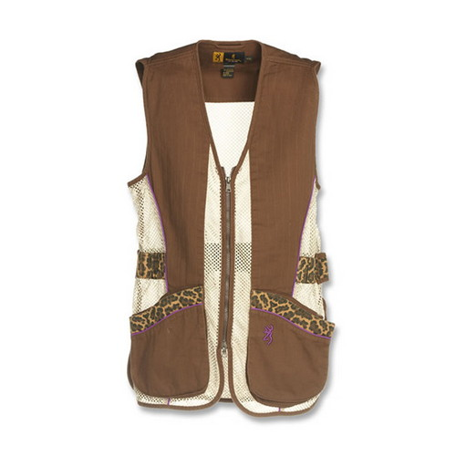 Browning Lady Sahara Brown/Leopard Vest Small