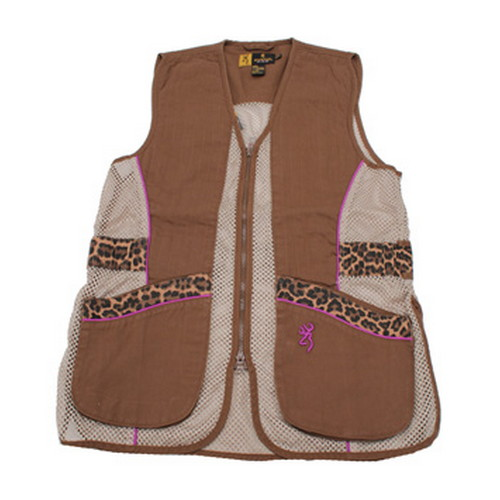 Browning Lady Sahara Brown/Leopard Vest Medium