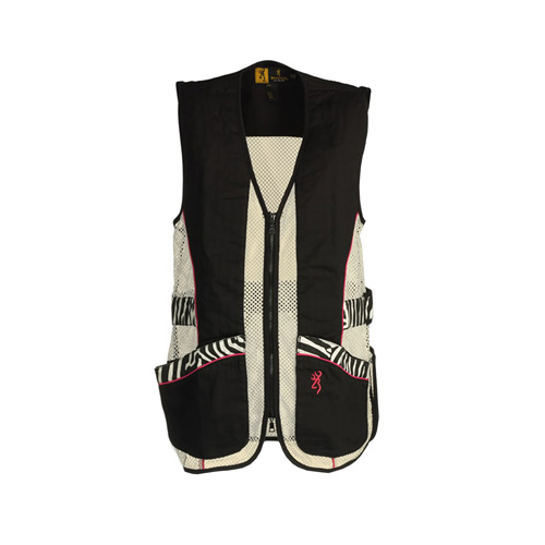 Browning Lady Sahara Black/Zebra Vest Small