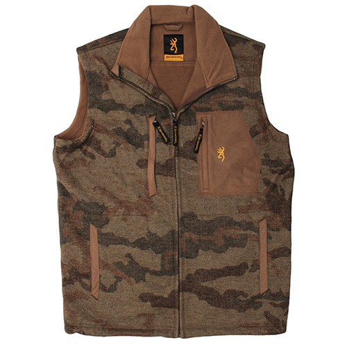 Browning Browning Mountain Wool Vest, All Terrain Brown Small 3050901201