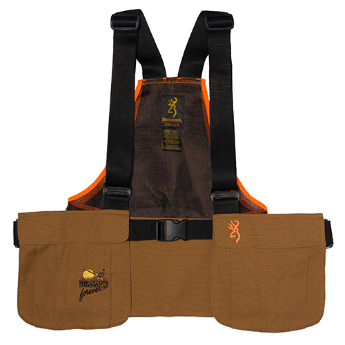 Browning Browning Pheasants Forever Strap Vest, Field Tan/ Orange 30511732