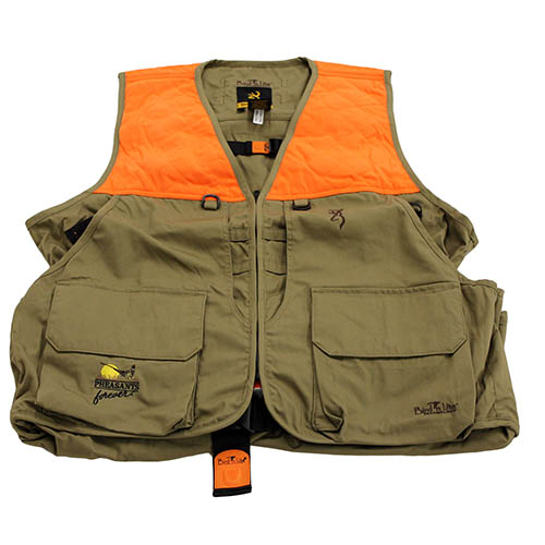 Browning Browning Bird-N-Lite Pheasants Forever Vest, Khaki XXX-Large 3056895806
