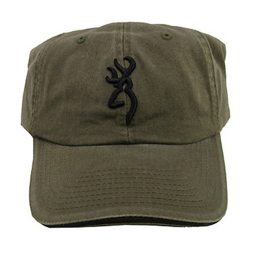Browning Browning 3D Buckmark Cap, with Sandwich Brim Olive/Black 308304641