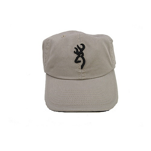 Browning 3D Buckmark Cap, with Sandwich Brim Khaki/Black