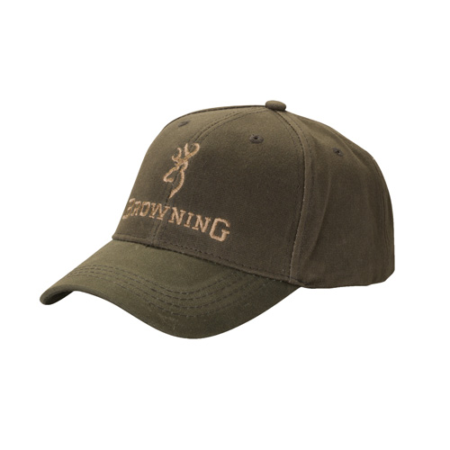 Browning Browning Dura-Wax Cap Olive, Solid Color 308412381
