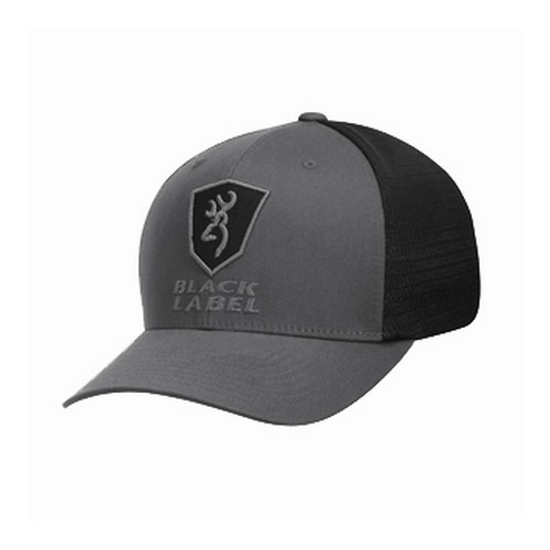 Browning Alfa Meshback FlexFit Gray/Black Cap Large/X-Large