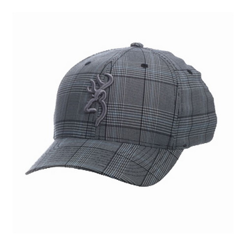 Browning Browning Glenn's Plaid Cap Gray Small/Medium 308700392