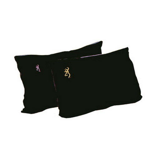 Browning Camping Browning Camping Fleece Pillow Black w/Pink Buckmark 7998101