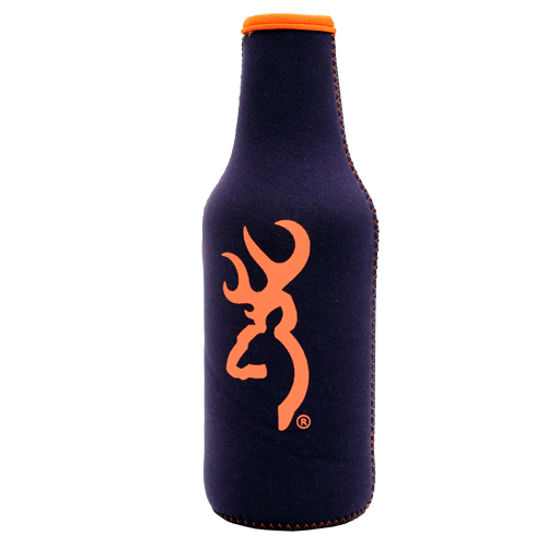 AES Outdoors AES Outdoors Browning Bottle Coozie Navy/Orange BR-BTL-NO