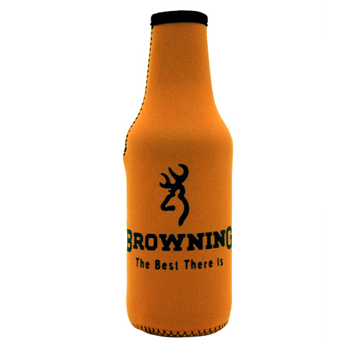 AES Outdoors Browning Bottle Coozie Orange/Black