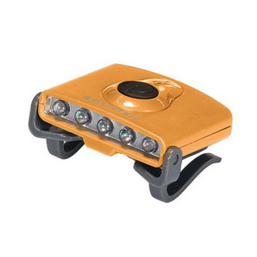 Brunton Hatclip Task Light, 3 White LED/2 Green LED Orange