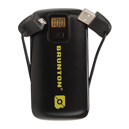 Brunton Metal 4400 mAh, 3x Charges - Black
