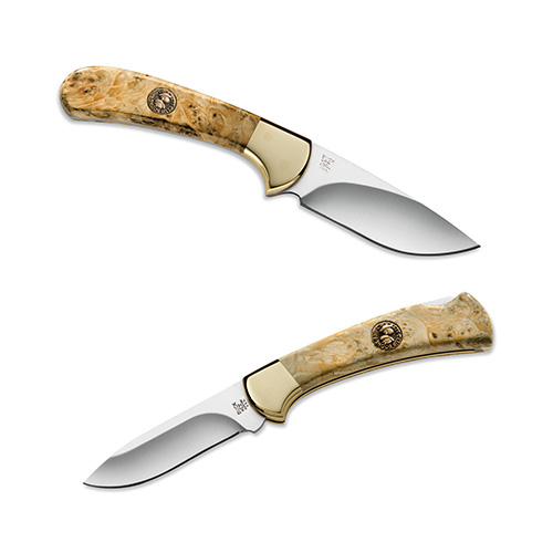 Buck Knives Buck Knives 3972 112/113 Box Elder w/Boone & Crockett Medallion CMBOBCLE1