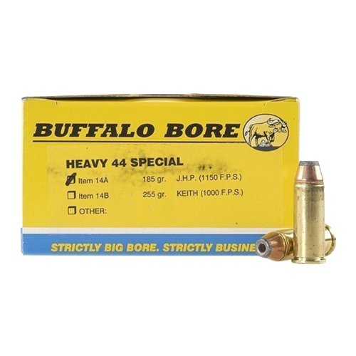 Buffalo Bore Ammunition Buffalo Bore Ammunition Heavy 44 Special 180 Gr JHP (Per 50) 14A/50