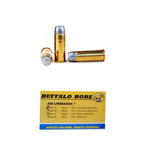 Buffalo Bore Ammunition 500 Linebaugh TM 435 Gr Hard Cast LBT-LFNGC 950 fps (Per 50)