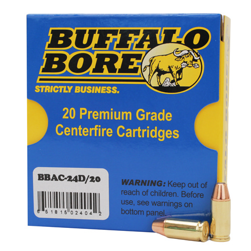 Buffalo Bore Ammunition Buffalo Bore Ammunition 9mm +P JHP (Per 20) 115 Gr 24D/20