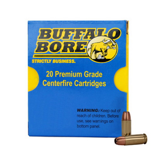 Buffalo Bore Ammunition Buffalo Bore Ammunition 38 Super +P (Per 20) 147 Gr JHP 33E/20