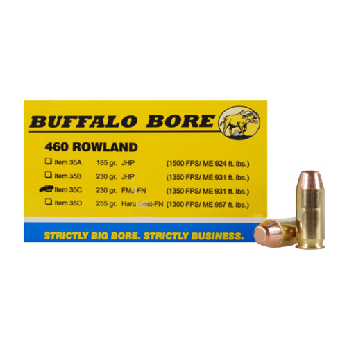 Buffalo Bore Ammunition Buffalo Bore Ammunition 460 Rowland 230 Gr FMJ-FN (Per 20) 35C/20