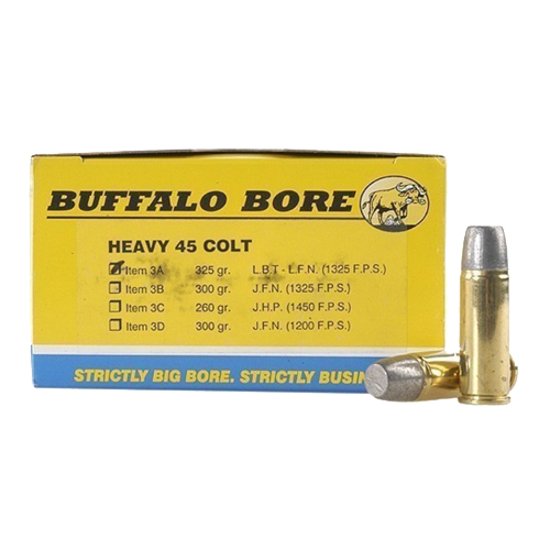 Buffalo Bore Ammunition Buffalo Bore Ammunition Heavy 45 Colt 325 Gr Hard Cast LBT-LFN (Per 50) 3A/50