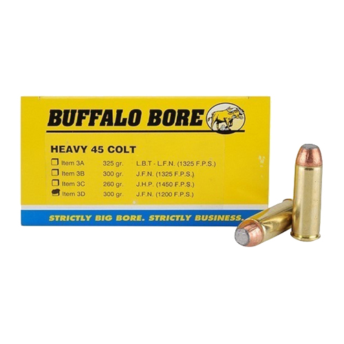 Buffalo Bore Ammunition Buffalo Bore Ammunition Heavy 45 Colt 300 Gr JFN 1200 fps (Per 50) 3D/50